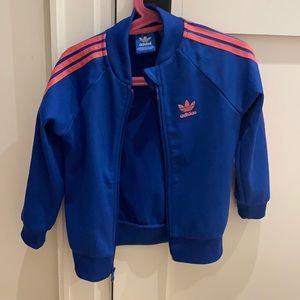 Adidas toddler blue and pink jacket. Size 3-4T